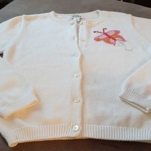 Lilly Pulitzer girls 12 cardigan butterfly sweater